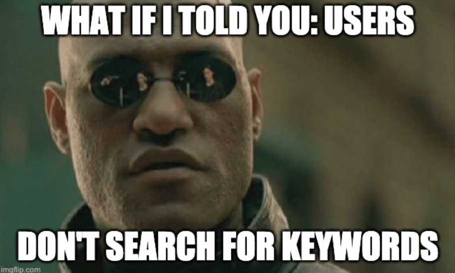Don't search for keywords