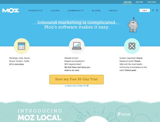 4 moz landing page