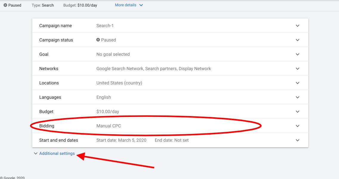 screenshot ads.google.com 2020.11.02 07 34 22